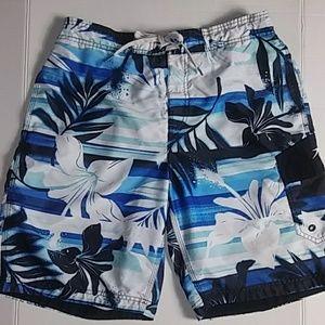 Speedo Men's Swim Shorts Blue Design Sz Medium
